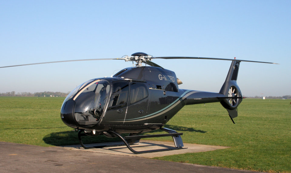 helicopter charter from a field