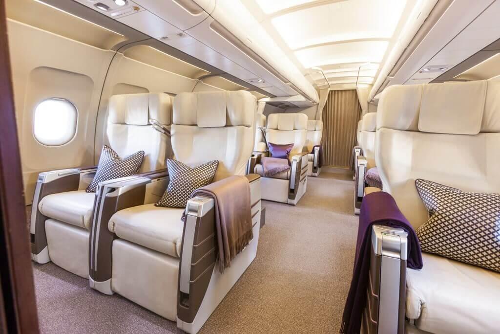 interior of airbus acj139 aircraft