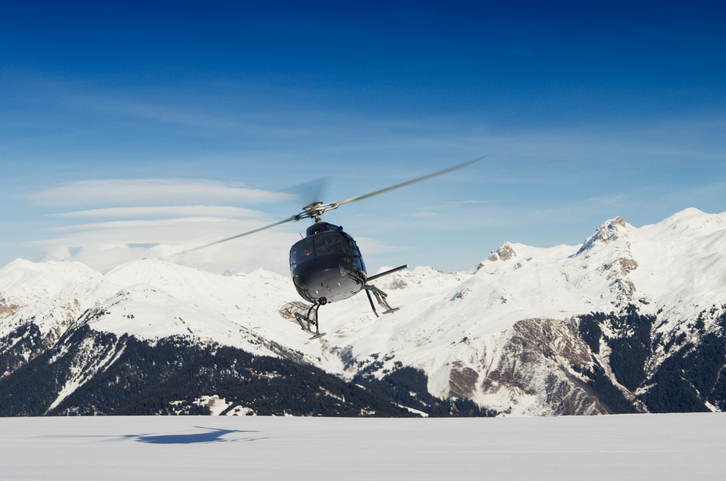 helicopter at courchevel