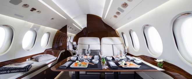private jet charter meal
