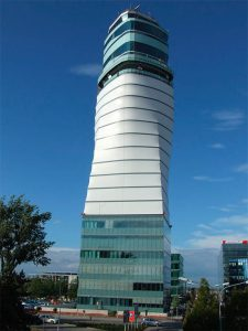 "The ""Leaning"" Vienna International Airport Tower, Austria"