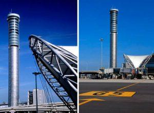 The tallest free-standing control tower: Suvarnabhumi Airport Bangkok, Thailand