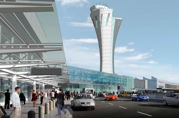 Futuristic Torch-like San Francisco Airport Tower