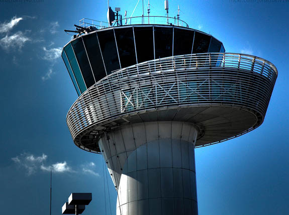 The Beautiful Bordeaux Airport Control Tower, France