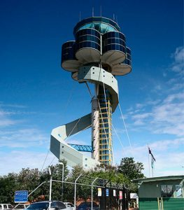 Kingsford Smith Airport Control Tower in Sydney, Australia