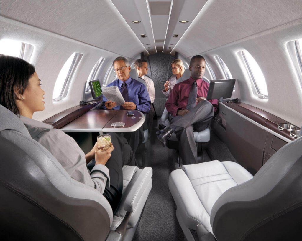 passengers on a cessna citation cj4 aircraft